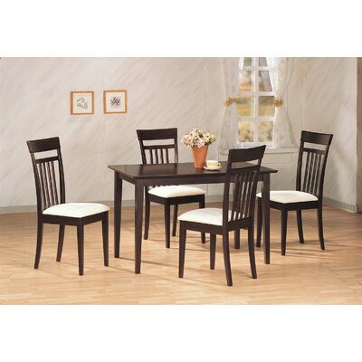 Bradwood 5 Piece Dining Set Finish: Cappucino