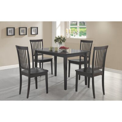 Laurel 5 Piece Dining Set Finish Cappucino