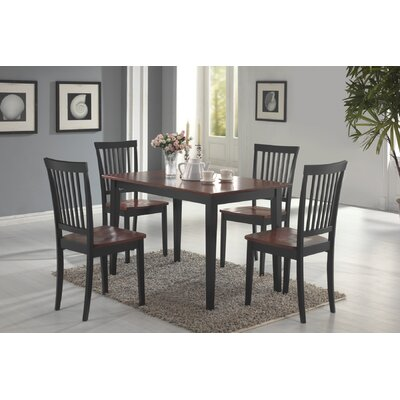 Sheridan 5 Piece Dining Set Finish: Cappucino/Cherry