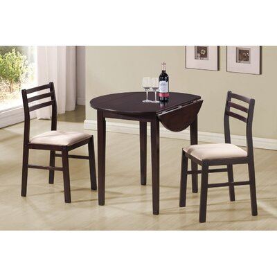 Maverick 3 Piece Dining Set Finish: Cappucino