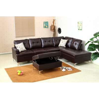 Emily Sectional Upholstery: Chocolate
