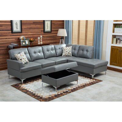 Mira Sectional Upholstery: Gray