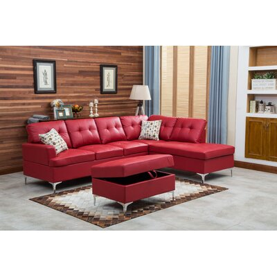 Emily Sectional Upholstery: Red