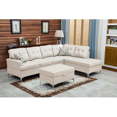 Mira Sectional Upholstery: White