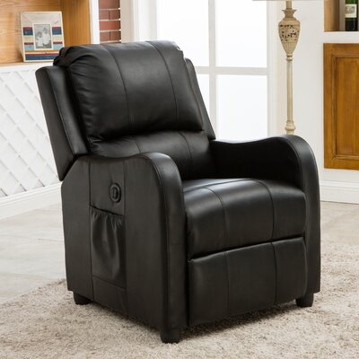 Shipman Power Recliner Color: Black