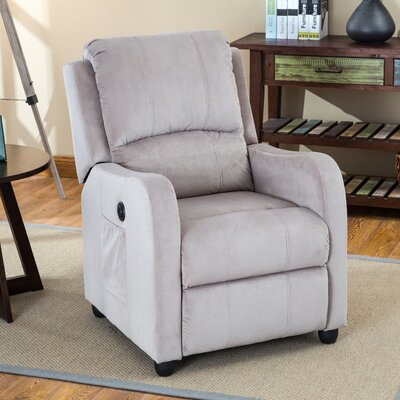 Shipman Power Recliner Color: Taupe