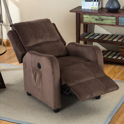 Shipman Power Recliner Color: Brown