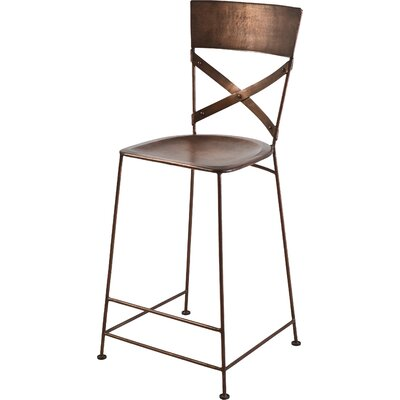 Jabalpur 26 inch Bar Stool Upholstery: Copper