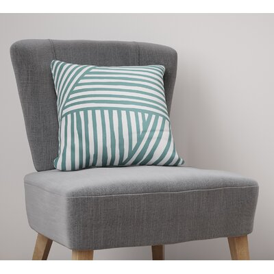 Domenico Throw Pillow Size: 26 H x 26 W, Color: Teal