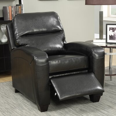 Braesgate Manual Recliner Color: Black