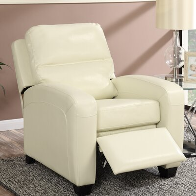 Braesgate Manual Recliner Color: Ivory