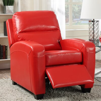 Yukon Pushback Recliner Color: Red