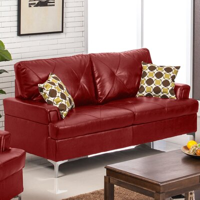 Elma Sofa Upholstery: Red