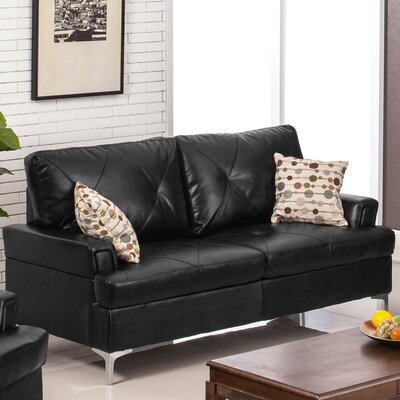 Walker Sofa Upholstery: Black