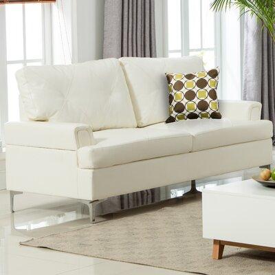 Elma Sofa Upholstery: White