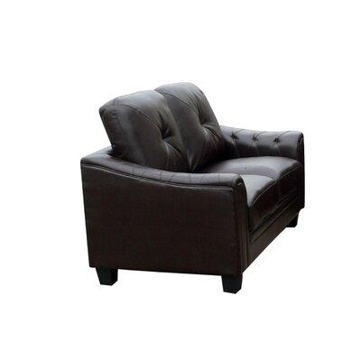 Clendenin Loveseat Upholstery: Black
