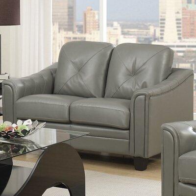 Clendenin Loveseat Upholstery: Gray
