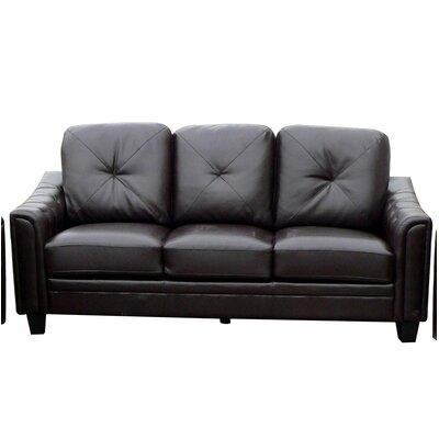 Clendenin Sofa Upholstery: Black
