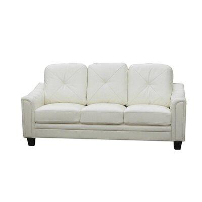 Clendenin Sofa Upholstery: White