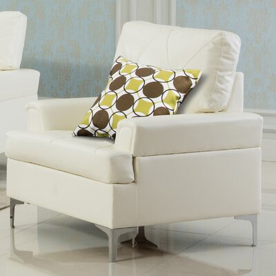 Elma Armchair Upholstery: White