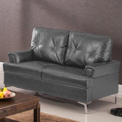 Elma Loveseat Upholstery: Gray
