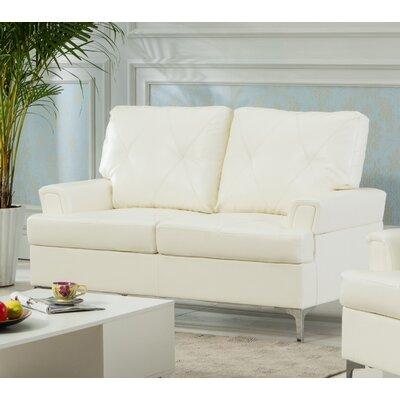 Elma Loveseat Upholstery: White
