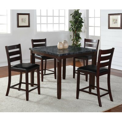 Catania 5 Piece Pub Table Set
