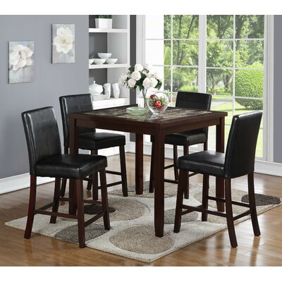 Cattle 5 Piece Pub Table Set