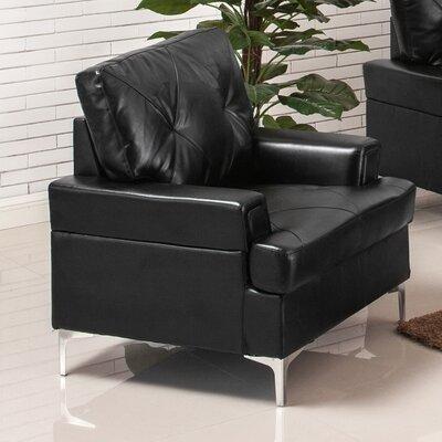 Elma Armchair Upholstery: Black