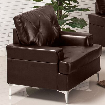 Walker Arm Chair Upholstery: Chocolate