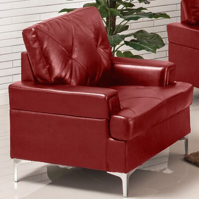 Elma Armchair Upholstery: Red