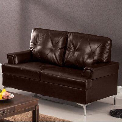 Elma Loveseat Upholstery: Chocolate