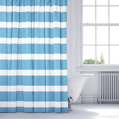 Saybrook Shower Curtain Color: Blue