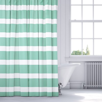 Saybrook Shower Curtain Color: Green