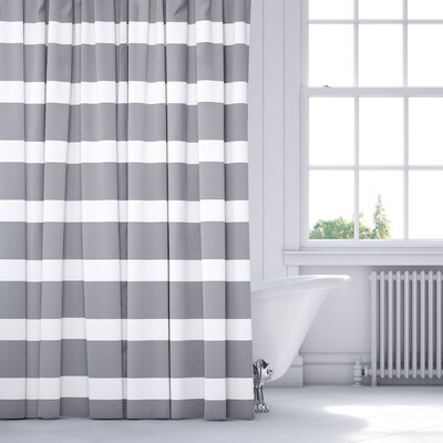 Saybrook Shower Curtain Color: Gray