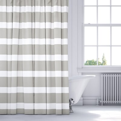 Saybrook Shower Curtain Color: Smoke