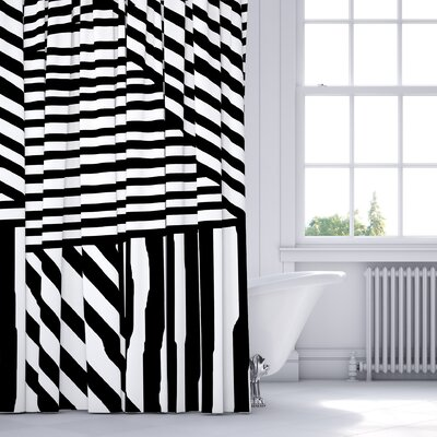 Domenico Shower Curtain Color: Black