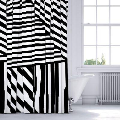 Orion Shower Curtain Color: Black