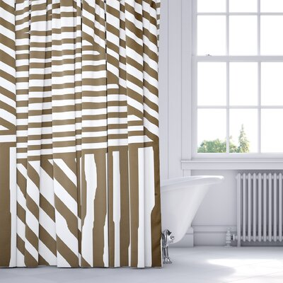 Orion Shower Curtain Color: Brown