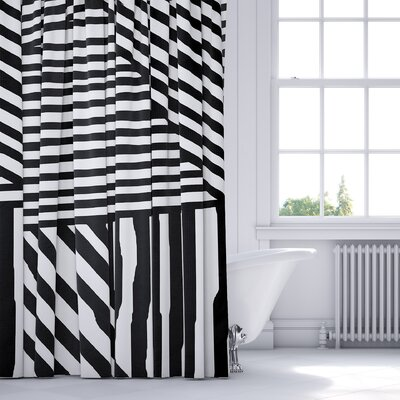 Domenico Shower Curtain Color: Gray