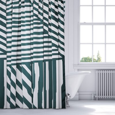 Orion Shower Curtain Color: Teal