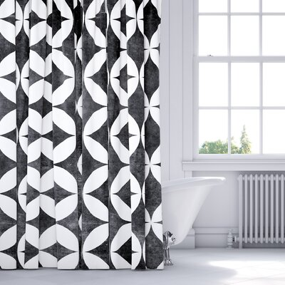 Persephone Shower Curtain Color: Black