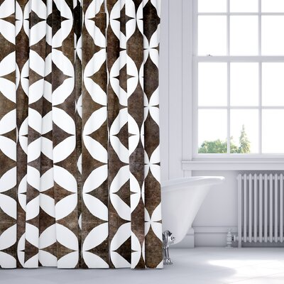 Persephone Shower Curtain Color: Brown