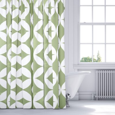 Persephone Shower Curtain Color: Green