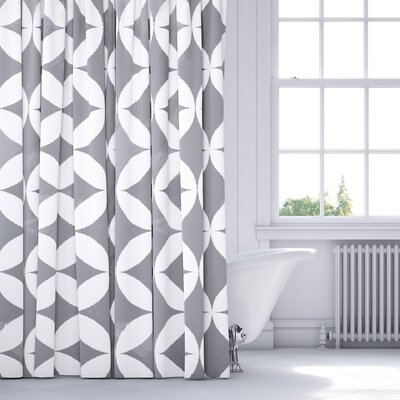 Persephone Shower Curtain Color: Gray