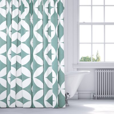 Persephone Shower Curtain Color: Teal