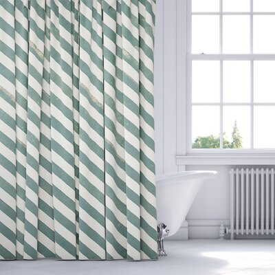 Mellina Shower Curtain Color: Green