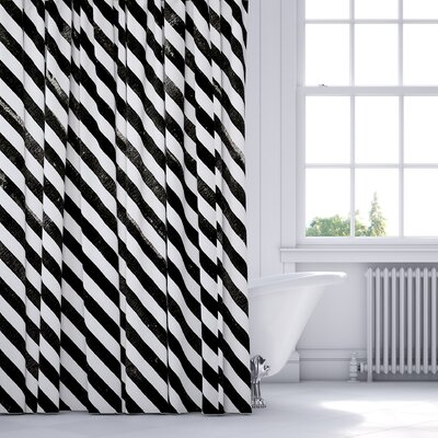 Mellina Shower Curtain Color: Black
