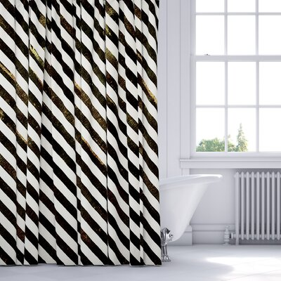 Mellina Shower Curtain Color: Brown