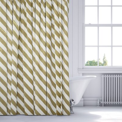 Mellina Shower Curtain Color: Yellow